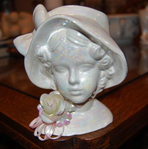 White Head Vase